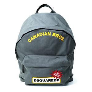 DSQUARED2 D2 Unisex Rucksack Canadian Bros., grau, Außen- und Innentasche