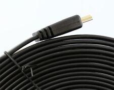 Largo 10m Cable HDMI plano oro HQ
