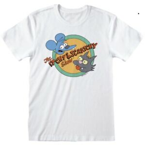 The Simpsons Itchy And Scratchy Logo T Shirt Size XL