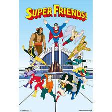 DC Comics - Super Friends TV POSTER 57x86cm NEW * Superman Robin Flash Batman
