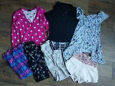 7 Piece Lot Girls' Size 7/8 Clothes Leggings Tops Dress Shorts Cardigan Skirt