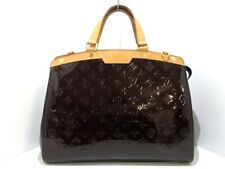 Auth LOUIS VUITTON Brea GM M91616 Amarante Monogram Vernis SR2173 Handbag