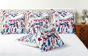 Indien Suzani Embroidered Cushion Cover Cotton Cushion Pillow Case Sofa Decor