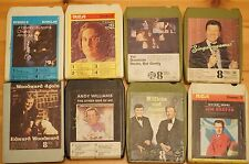 Vintage 8 Track 8 cartuchos de diversos mezclados todos en muy buena condición pedido Gran Selección ST10