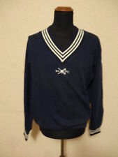Polo Ralph Lauren Felpa Blu - M - Yacht V-Neck Sweater (Flag/USA/Patch)