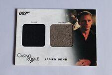 JAMES BOND CASINO ROYALE DC03 DANIEL CRAIG DOUBLE COSTUME RELIC CARD