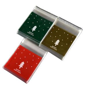 ✜ Xmas Cellophane Candy Gift Bags Santa Cello Cookies Merry Christmas ✜