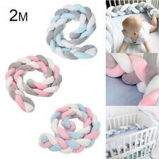 2M Nestchen Kopfschutz Baby Knotenkissen Bettschlange Kopfschutz Babynestchen