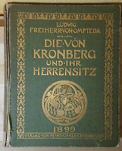 Rar! Ompteda Die von Kronberg und ihr Herrensitz 1899 Taunus Hessen Genealogie