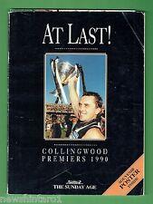 #T9.   AFL BOOKLET & POSTER - COLLINGWOOD  MAGPIES 1990 PREMIERS