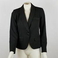 Worthington Size 4 Solid Black Blazer Jacket Stretch Lined Career Wear To Work