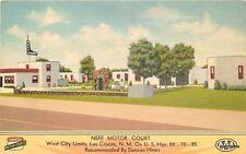 1940s Neff Motor Court roadside Las Cruces New Mexico MWM postcard 12158