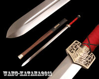 Handmade Chinese Han Dynasty Sword Carbon Steel Sharp Double Edged Jian Rosewood