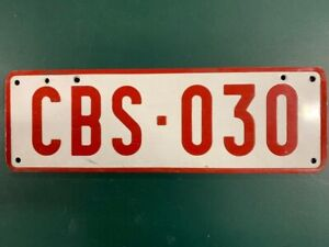 Old Belgium Car licence/number plate