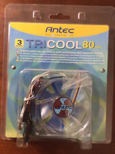 Antec TriCool 80mm Cool Fan 3-Speed Switch Quiet Performance Maximum Cooling NEW