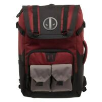 Marvel Comics Deadpool Quilted Black Mini Knapsack Backpack PU Leather