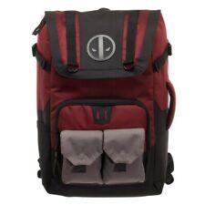 Marvel Deadpool Backpack - Black and Red Deadpool Backpack