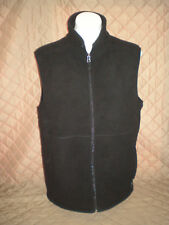 NWOT - Men's White Sierra Mountain II Vest - Zip Front - Black - Size Med.