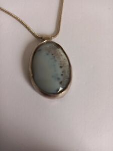VINTAGE Solid 925 Sterling Moonstone Pendant with 925 Necklace