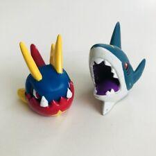 Sharpedo & Carvanha Pokemon Nintendo Bandai Toy Figures Vtg Set Water a
