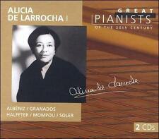 Alicia de Larrocha  Great Pianists 2 CD set  Phillips