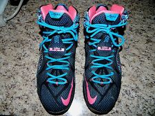"NIKE LEBRON XII ""23 CHROMOSOMES"" BLACK PINK BASKETBALL SHOES 684593-006 (Sz:11)"