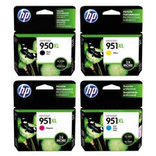 HP 950XL Black Ink & 951xl cyan yellow magenta original 4 pack set Cartridge