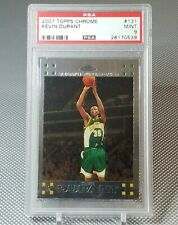 KEVIN DURANT 2007-08 Topps Chrome #131 RC Supersonics Rookie PSA 9 MINT