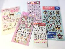 Rare Sanrio Originals 1976 Hello Kitty 5 Sheets Stickers Lot Puffy Holographic