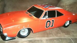 2005 DODGE CHARGER 1969 DUKES OF HAZZARD GENERAL LEE RC 1/10 CAR AS IS NO REMOTE