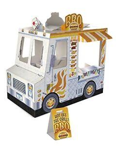 Melissa Doug Food Truck Toy Corrugate Indoor Playhouse Kids Cardboard 4 Feet