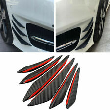 6pcs Universal Carbon Fiber PP Car/Auto Front Bumper Fins Spoiler Canards Refit