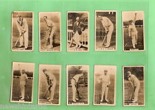 #D105. SET OF 1926 ENGLISH CRICKETERS CRICKET CIGARETTE CARDS
