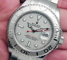 Rolex YACHTMASTER 16622 Steel & Platinum Bezel Oyster Platinum Dial 40MM