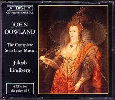 John DOWLAND Complete Solo Lute Work JAKOB LINDBERG 4CD BIS 1996 Orpharion