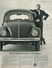 PUBLICITE  1968   VOLKSWAGEN   qui est derrière la Coccinelle?