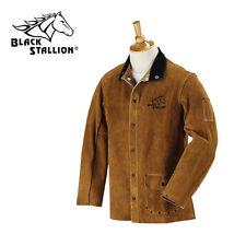"Revco Black Stallion Split Cowhide 30"" Leather Welding Jacket Size Medium"