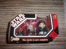 STAR WARS HOT TOYS CHUBBY SITH NESTING DOLLS SERIES 1 2007 NEW IN BOX MAUL DOOKU