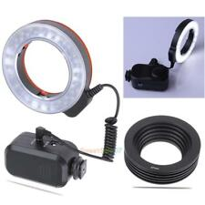 48LED Ring Light with 6 Adapter Rings for Macro Canon/Nikon/Sony/Sigma Lens