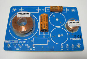 2x 2-Wege Weiche Frequenzweiche Lautsprecher 4Ohm VISATON HW 2/70 NG #5401 PAAR