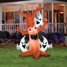 """Halloween Yard Decor 84"""" Lighted Self-Inflatable Scary Tree with Ghosts"""