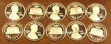 10 One 1 Gram .999 Silver Rounds Lincoln Cent.....Free Shipping..Lot A61