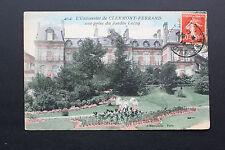 Carte postale ancienne 1914 CLERMONT-FERRAND - Université prise du jardin Lecoq