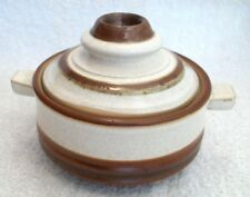 Denby .Potters Wheel. Brown & Cream..Soup. Individual Casserole.Server. Lidded