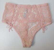 Victoria's Secret Size XS 6 Pink High Waist Lace G String Panties Dream Angels