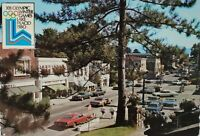 Official Postcard XIII Olympic Winter Games Lake Placid 1980 Cars Street