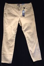Women's Red Camel Jeans Chino Skinny Fit Slim Size 15
