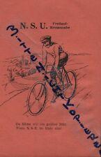 Neckarsulm, Werbung um 1920, NSU Fahrzeugwerke AG Fahrrad-Freilaufbremsnabe