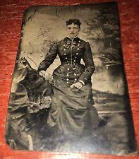 Tintype Of Woman In Civil War Era Clothes