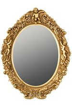 Spiegel Oval Barockspiegel Barock gold Wandspiegel Badspiegel antik Engel